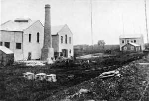 Photograph of new building work of the Power House at the Leafield Wireless Radio Station site. Date: not known