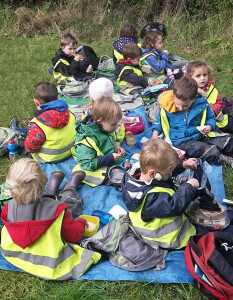 Forest school lunch