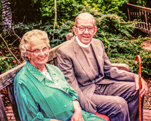 Reverend and Mrs Ralph in retirement at Bexhill-on-sea, Sussex