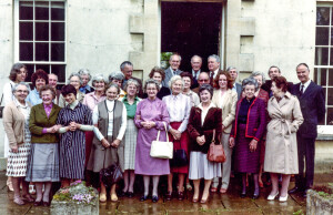Probable early production team of the Wychwood Magazine in the 1980s  taken at Shipton Standing